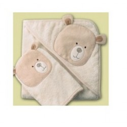 Natures Purest Hug me bear cuddle robe and wash mitt