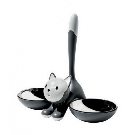 "Alessi - Miriam Mirri - ""Tigrito"" Grey Cat Bowl"