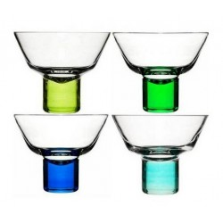 Sagaform Club Martini Glasses (Blue/Green)