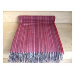 Deep Red Lambswool Rainbow