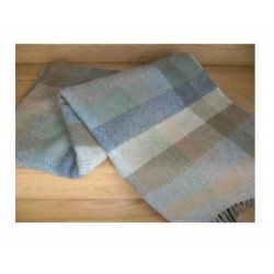 Duck Egg mini check Lambswool