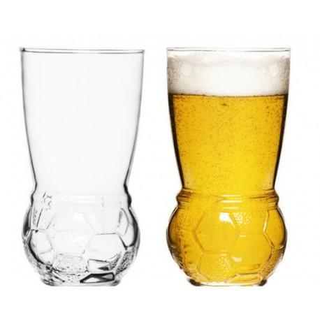 Sagaform Football Beer Glasses - 2 Pack