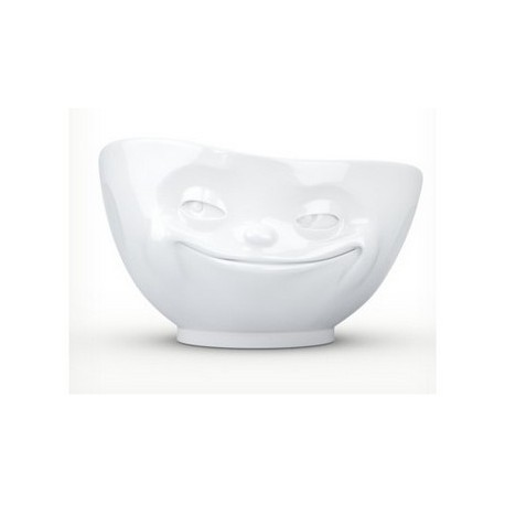 Tassen Bowl, grinning, white 500ml