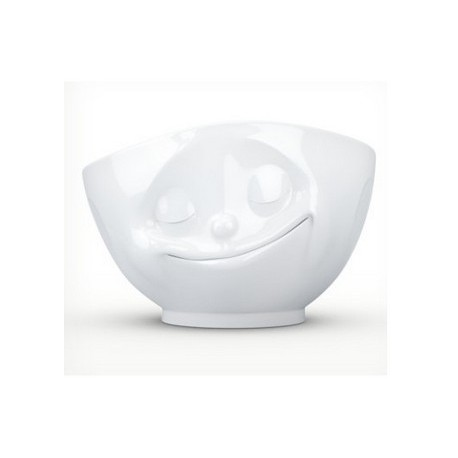 Tassen Bowl, happy, white 500ml