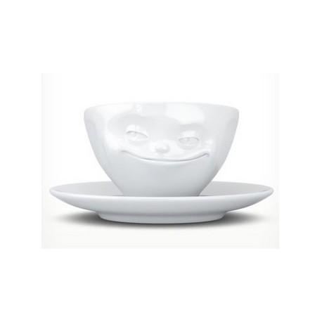 Tassen Espresso cup, grinning, white 100ml