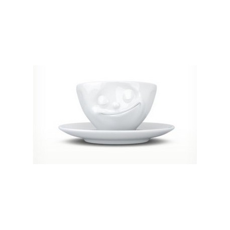 Tassen Espresso cup, happy, white 100ml