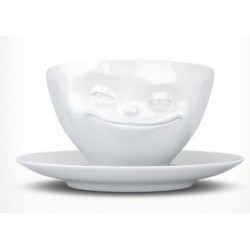 Tassen Cup, grinning, white 200ml