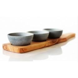 SPARQ Home Condiment Trio - Cedar Paddle