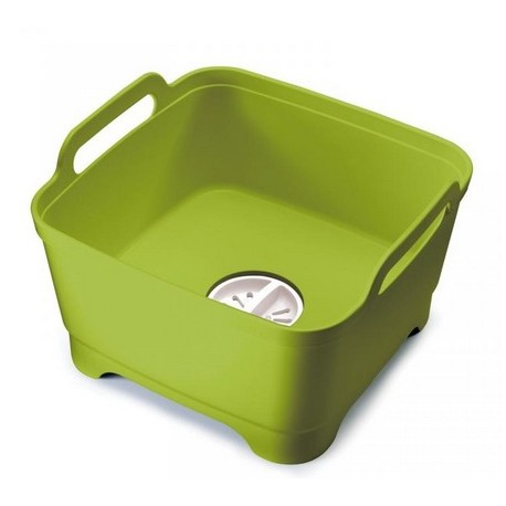 Wash&Drain™ Dishwashing bowl with straining plug