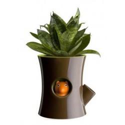 Log And Squirrel Flowerpot: