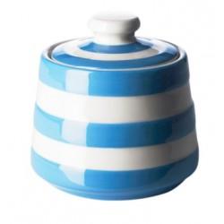 Cornish Blue Covered sugar bowl, 10x10cm