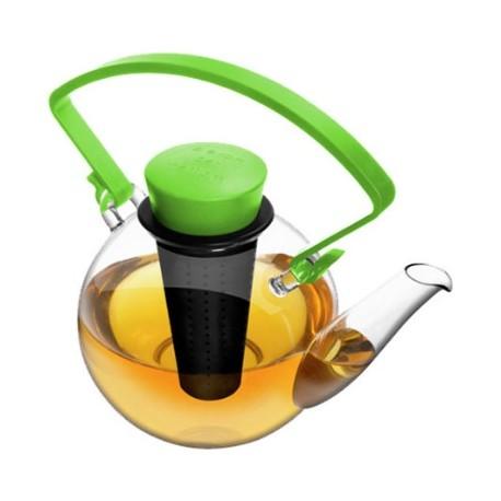 QUDO Glass Tea Pot Green
