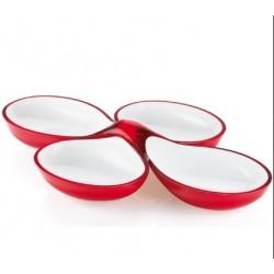 Guzzini Vintage - Set of 2 Two-Tone Interlocking Dishes