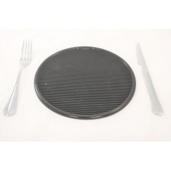 Round Black Rubber PlaceMats