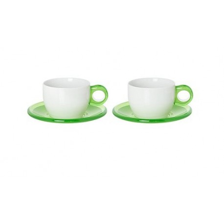 GUZZINI SET OF 2 CAPPUCCINO CUP AND SAUCER