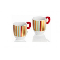 GUZZINI SET STRIPED MUGS
