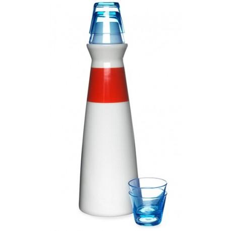 Sagaform Lighthouse Schnapps Carafe Set with 4 Glasses